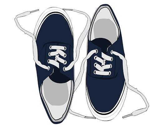 astuce de rangement de chaussures