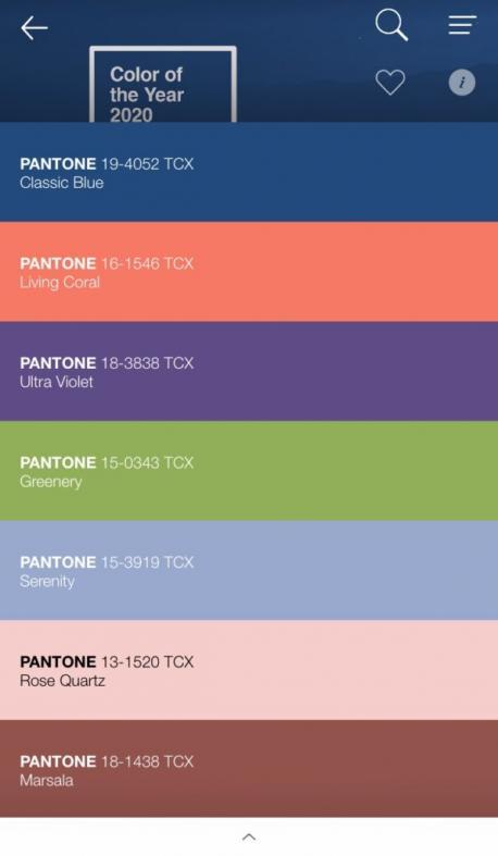 App Pantone 2021