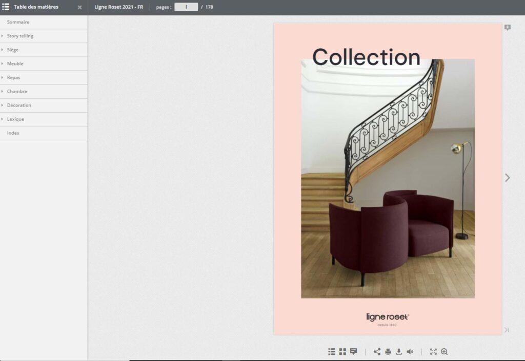 Catalogue en ligne de la nouvelle collection Ligne Roset 2021