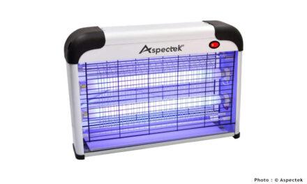 Test de la lampe anti moustique ASPECTEK à UV: la plus efficace sur tous les insectes