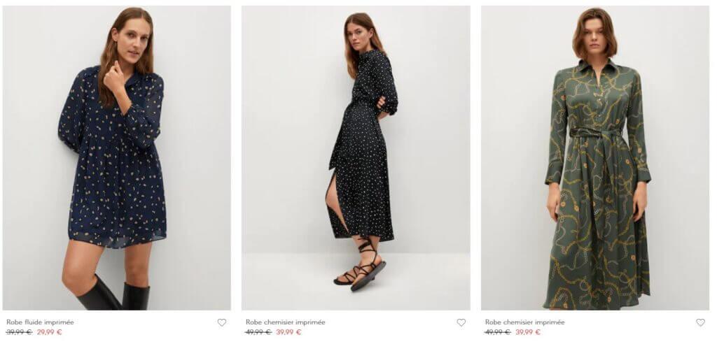 Promotion Mango jusqu'à -50% sur les robes