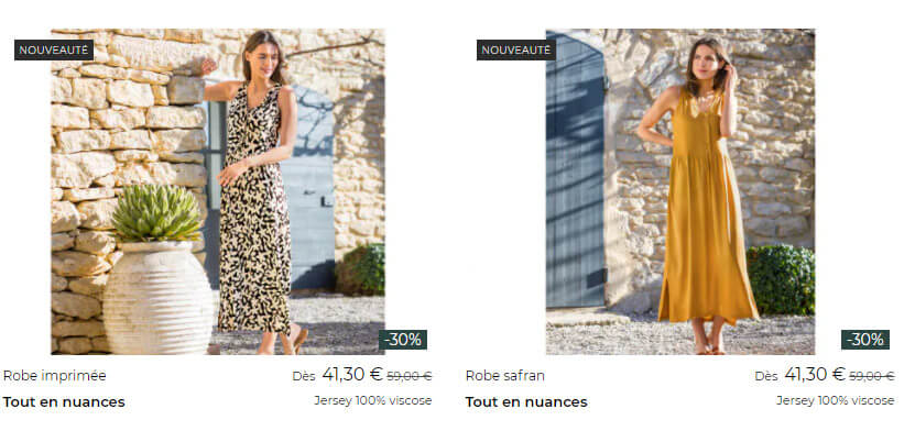 Promotions Linvosges Robes