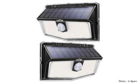 Mpow 300 LED – Lampe Solaire Extérieur Puissante Étanche : projecteur solaire avec détection de mouvement