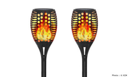 Torche Solaire Effet FlammeXZN : Pour un effet flamme