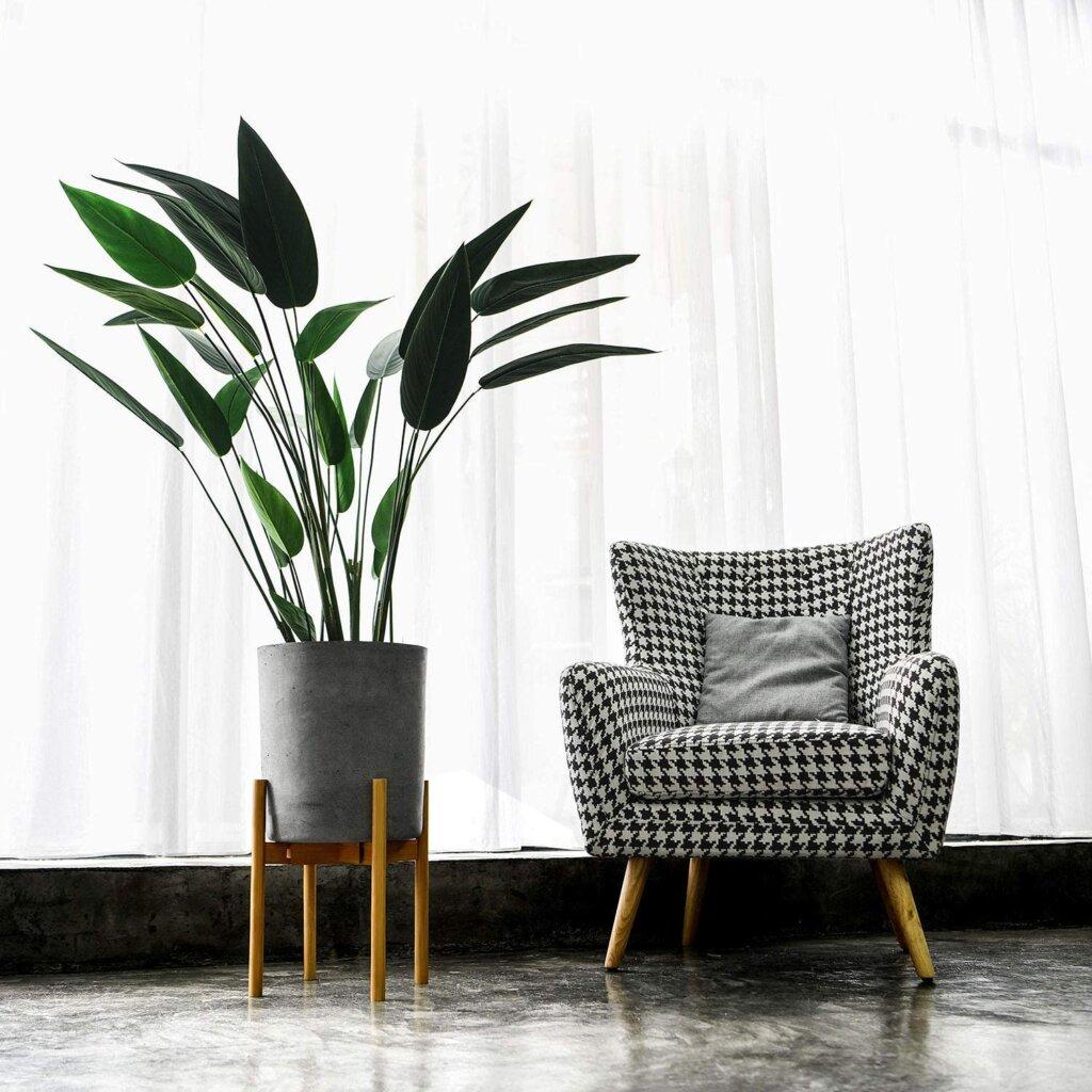 Support pour plantes pour décoration d'intérieur avec des plantes