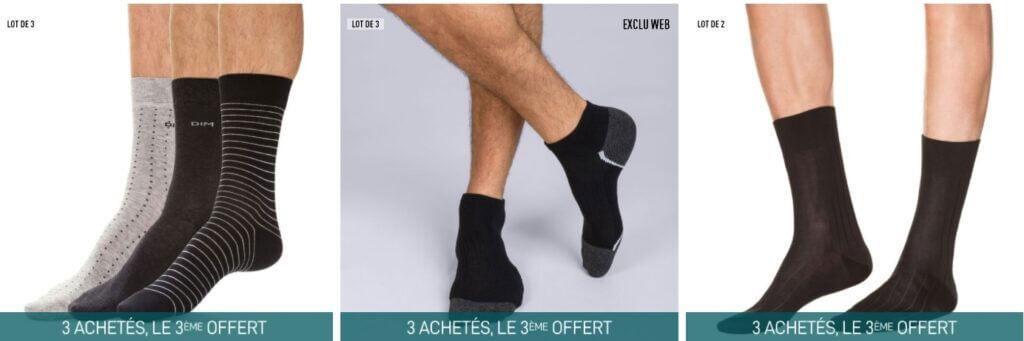 chaussettes pour hommes