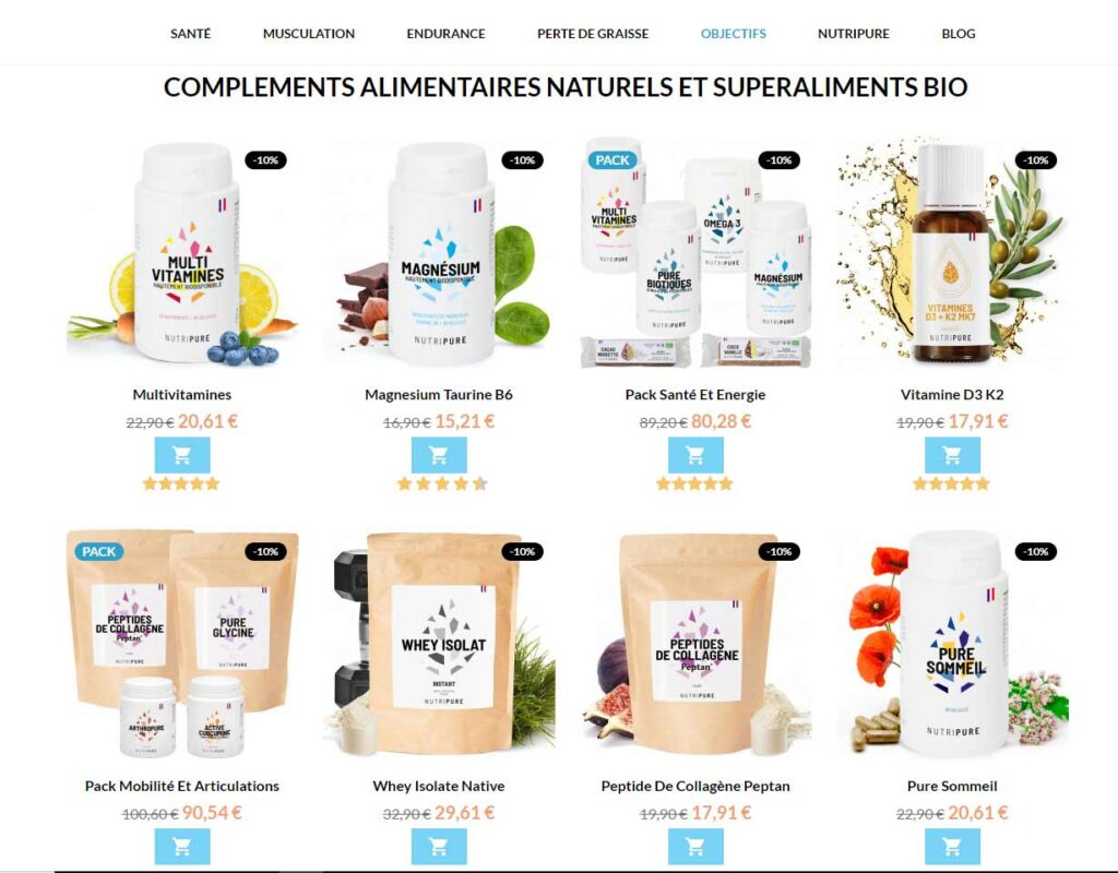 Produits Nutripure -10%