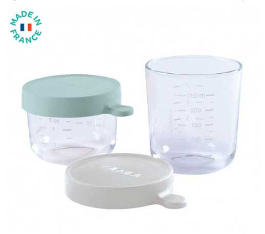 pots en verre Code promo Béaba : Un coffret de 2 pots en verre offert pour l'achat d'un Babycook Néo